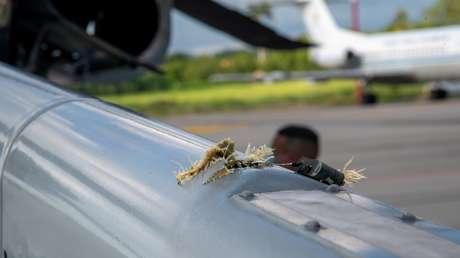 avión helicoptero atentado